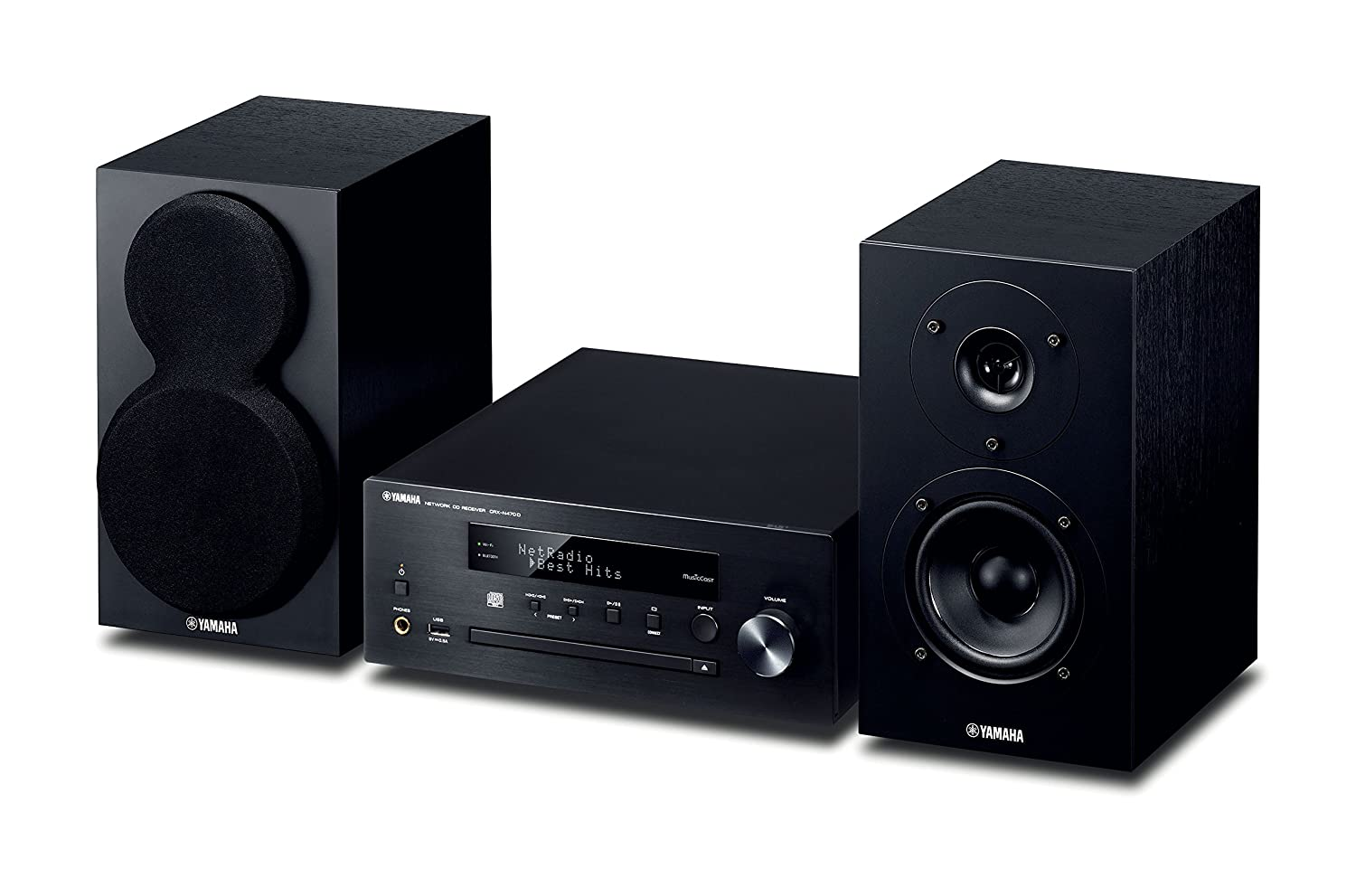 Yamaha MusicCast MCRN470D Network Hi-Fi System with Airplay and Bluetooth – Black
