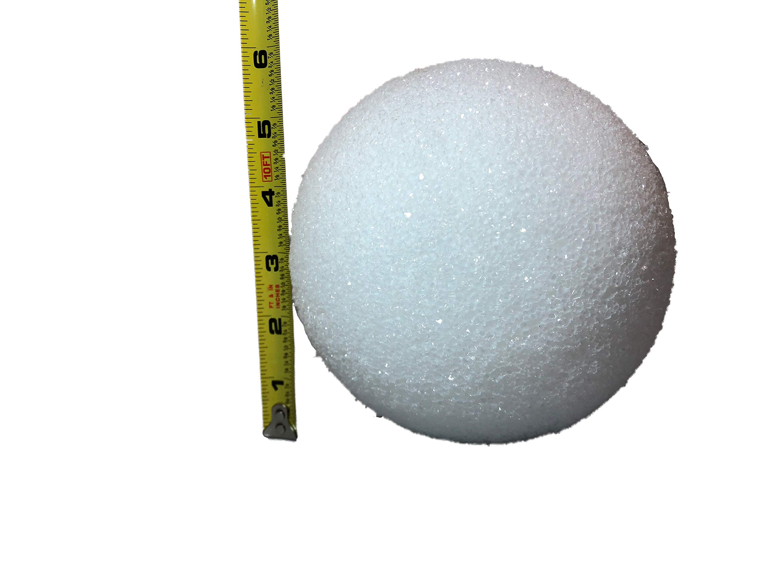 White Styrofoam Balls for Arts and Crafts (12 Balls) - by LACrafts (6 Inch)