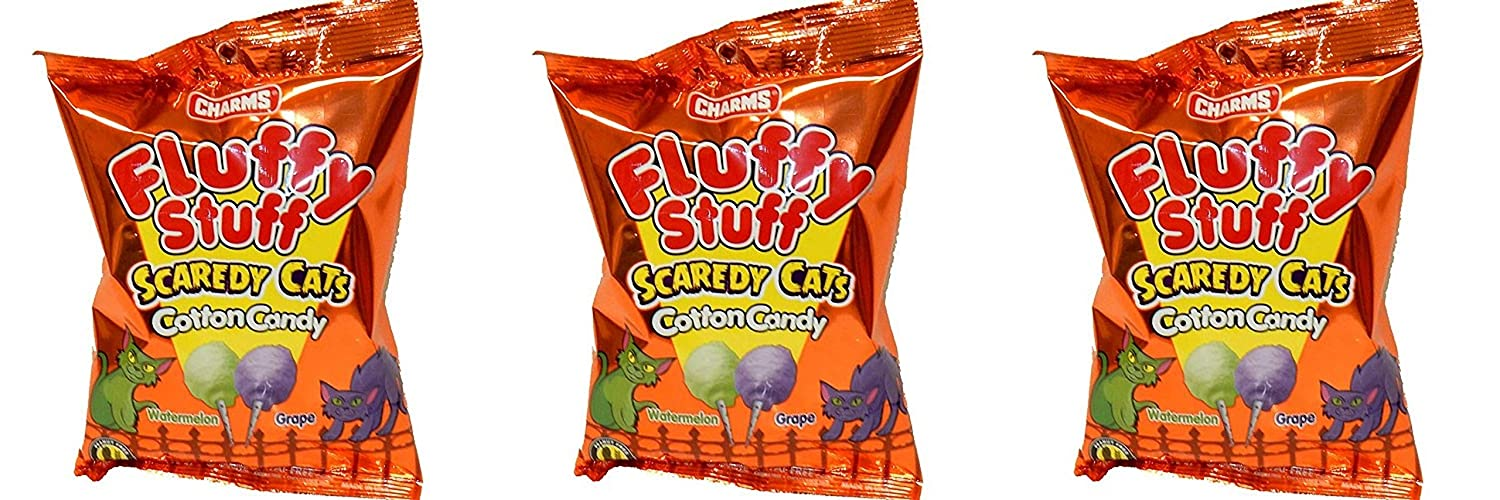 Fluffy Stuff Cotton Candy, 2.1 oz, 3 pack (Scaredy Cat)