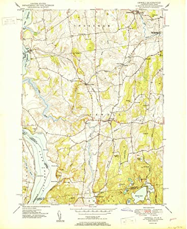 Amazon.com : Orwell VT topo map, 1:24000 Scale, 7.5 X 7.5 Minute ...