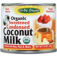 Let's Do...Organic Sweetened Condensed Coconut Milk, 7.4 Ounce Cans (Pack of 6)