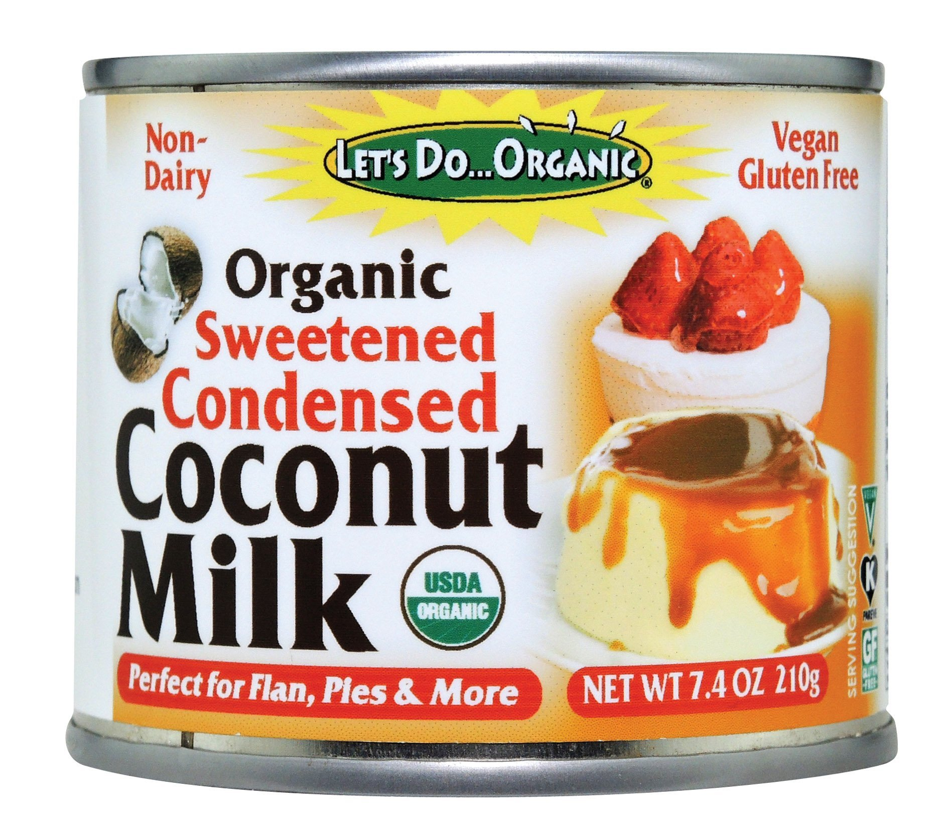 Let's Do Organic Sweetened Condensed Coconut Milk, 7.4 Ounce (Pack of 6)