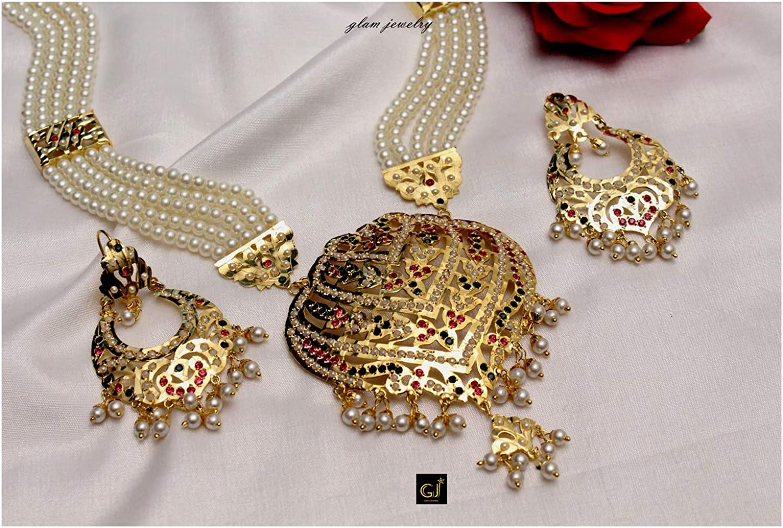 Amazon Com Glamorous Collection Long Necklace Set Rani Haar