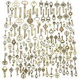 Jeteven 125pcs Vintage Skeleton Charm Key Set Necklace Bracelets Pendants Jewelry DIY Making Supplies Tree Topper…
