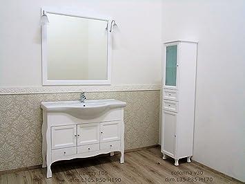 Le Chic Mobile Bagno Stile Liberty Bianco Opaco Shabby Contemporaneo ...
