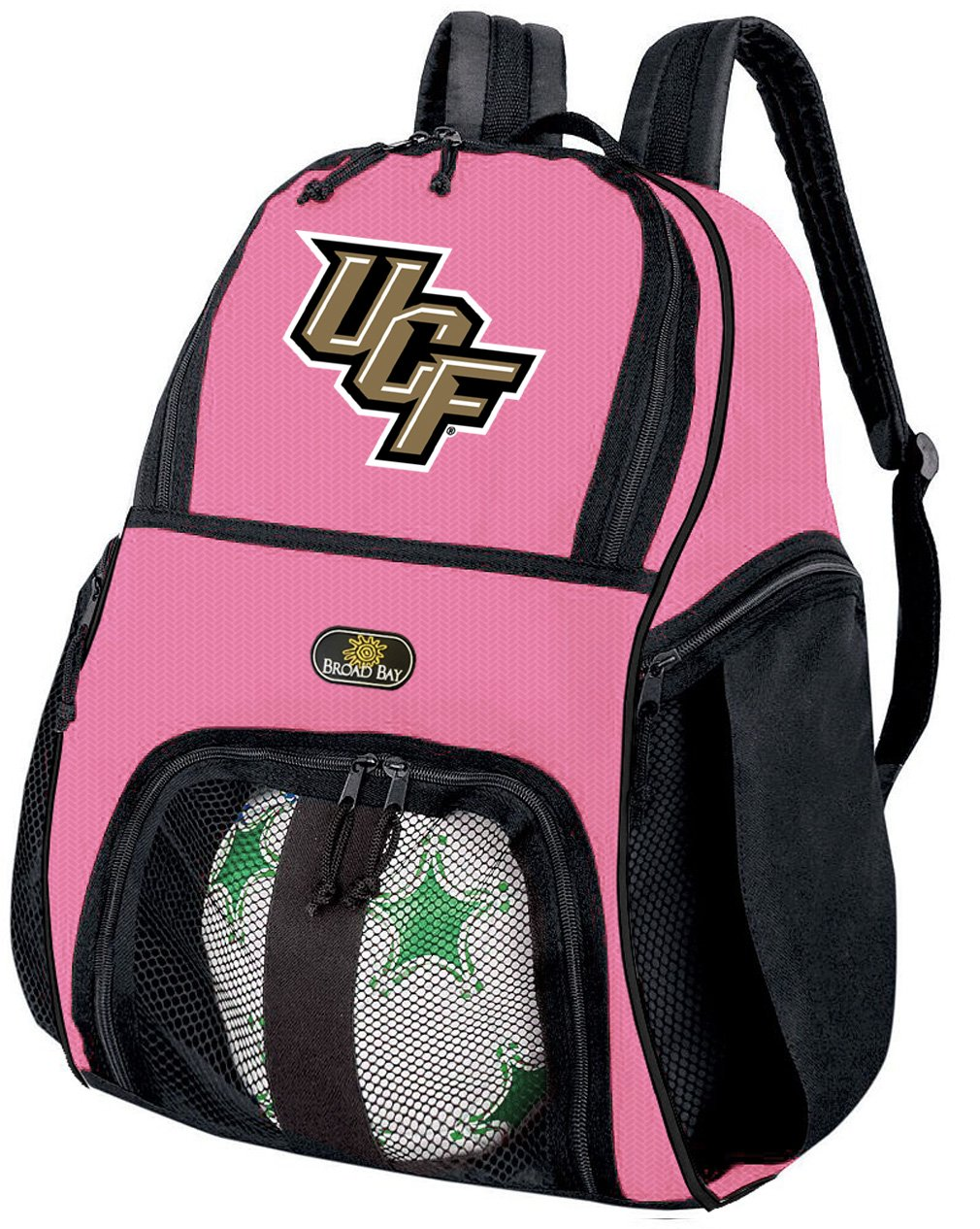 Girlsセントラルフロリダ大学サッカーボールバックパックまたはレディースバレーボールバッグボールキャリア B017A5VKS8