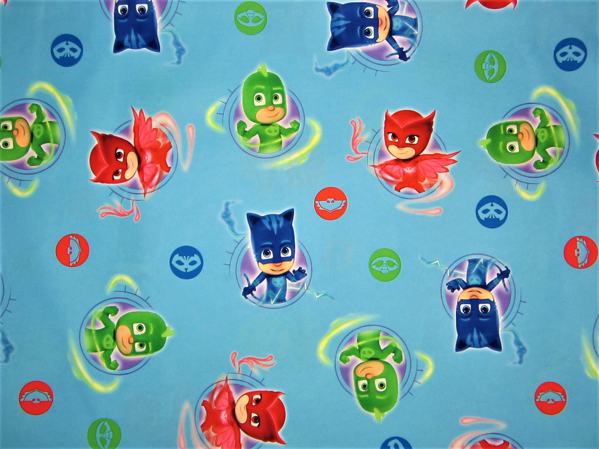 PJ Masks It's Hero Time 100% Microfiber (FLAT SHEET ONLY) Size TWIN Girls Kids Bedding