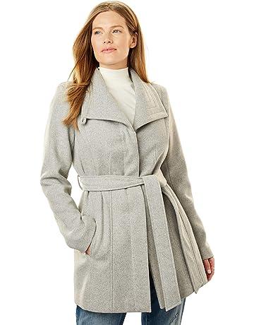 2003963711d Woman Within Women s Plus Size Wool-Blend Wrap Coat