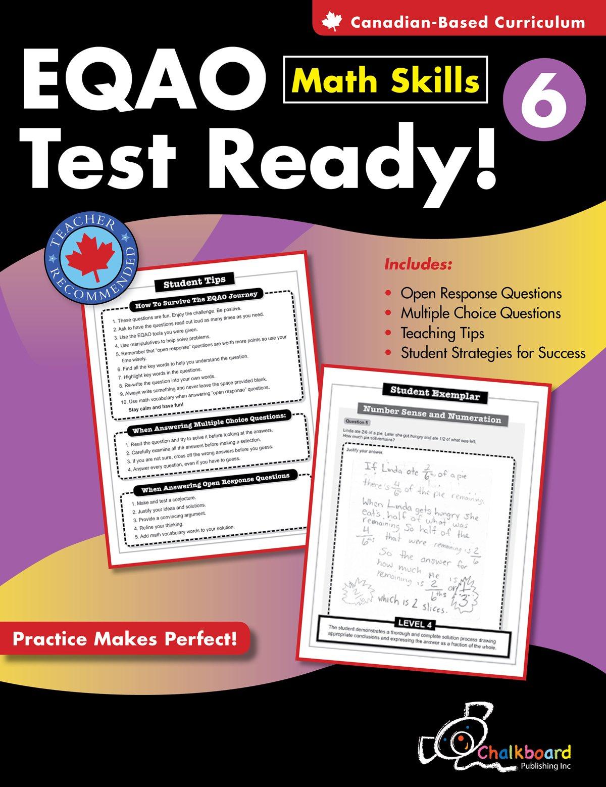 EQAO Test Ready Math Skills 6: Demetra Turnbull: 9781897514276 ...