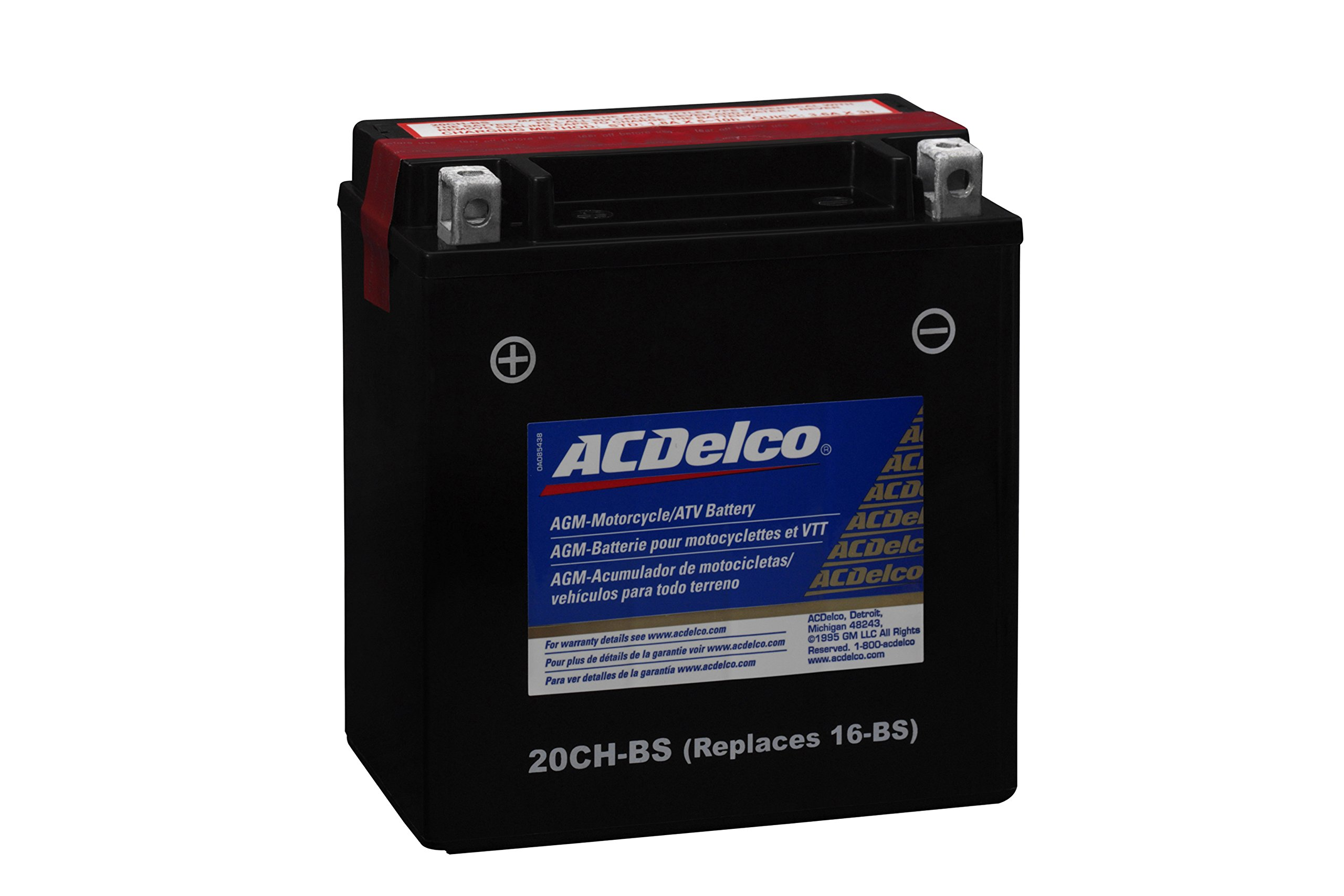 ACDelco ATX20CHBS Specialty AGM Powersports JIS 20CH-BS Battery by ACDelco (Image #2)