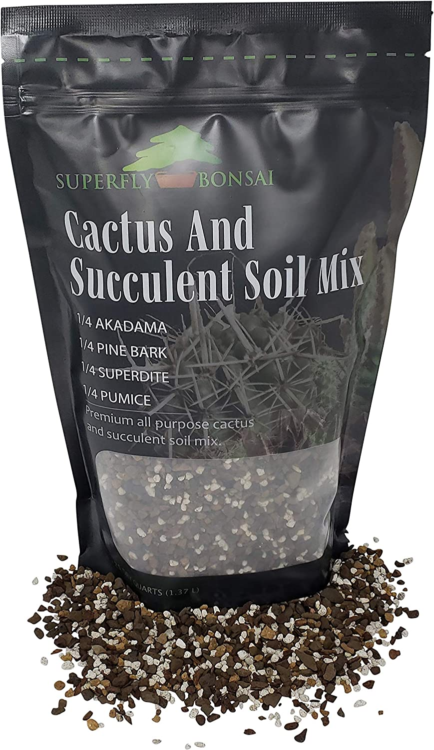 Succulent & Cactus Soil Mix - Premium Pre-Mixed Fast Draining Blend