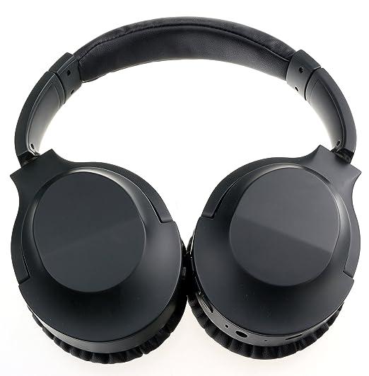 1965e9091a9 Amazon.com: Noise Cancelling Headphones: Active Bluetooth Headset Over Ear Wireless  Reduction Stereo Earphones Microphone Mic HI-FI Big Deep Bass Foldable ...