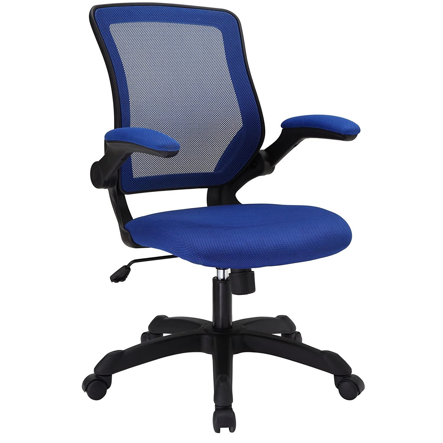colored office chairs. Amazon.com: Modway Veer Office Chair With Mesh Back And Blue Vinyl Seat Flip-Up Arms - Ergonomic Desk Computer Chair: Kitchen \u0026 Dining Colored Chairs R