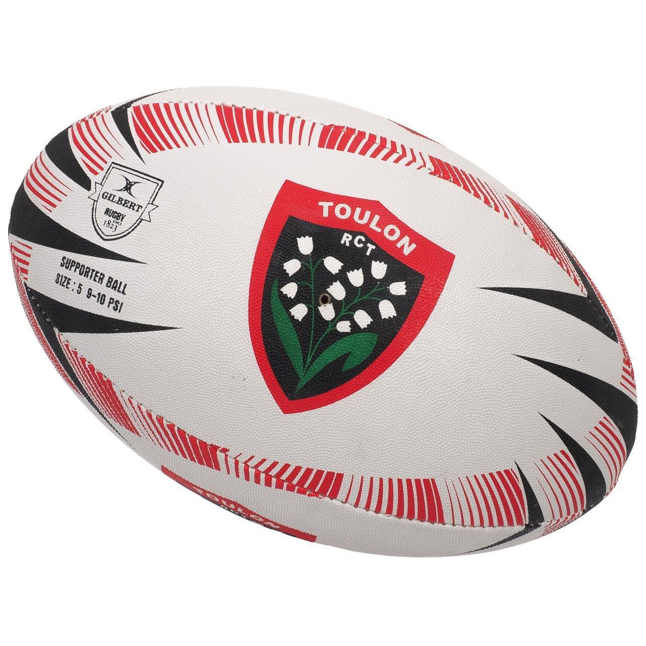 GILBERT Ballon de rugby SUPPORTER - Toulon - Taille 5: Amazon.es ...