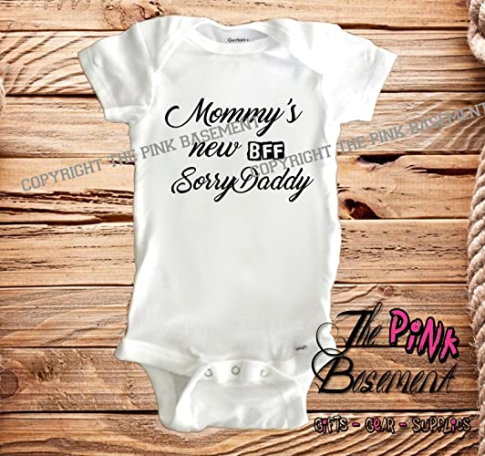 561496d71bde Amazon.com: HANDMADE Baby BFF Best Friends Forever Clothes Clothing kids  funny Unisex Boys Girls Newborn Infant Onesies Shower Gift Clothing Gifts  ...