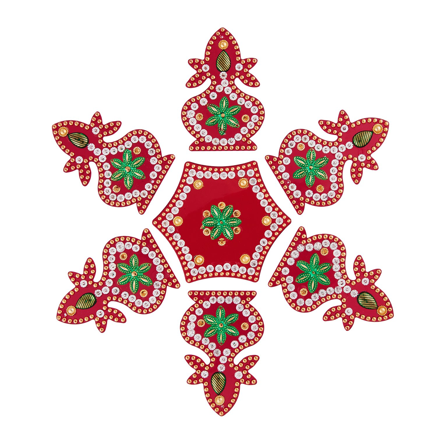 Rangoli Wall and Floor Sticker for Diwali Pooja Home Decoration
