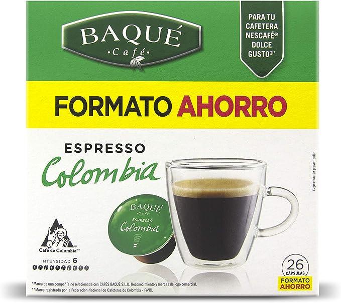 Cafés Baqué 26 Capsulas Compatibles Dolce Gusto Espresso Colombia ...