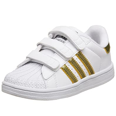 the latest de26d 647bc adidas Originals Infant Toddler Superstar 2 CMF Sneaker,White Black Metallic  Gold