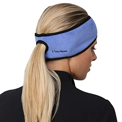 Amazon.com  TrailHeads Women s Ponytail Headband – French blue black ... 468dbd429d5