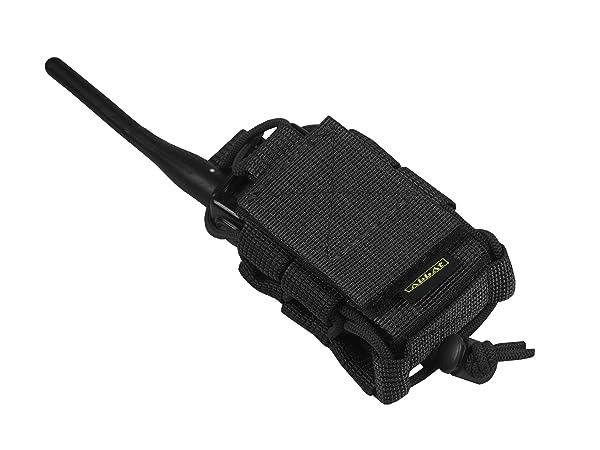 M.O.L.L.E pouch bag Radio Phone GPS tactical molle (Black) (Color: Black)