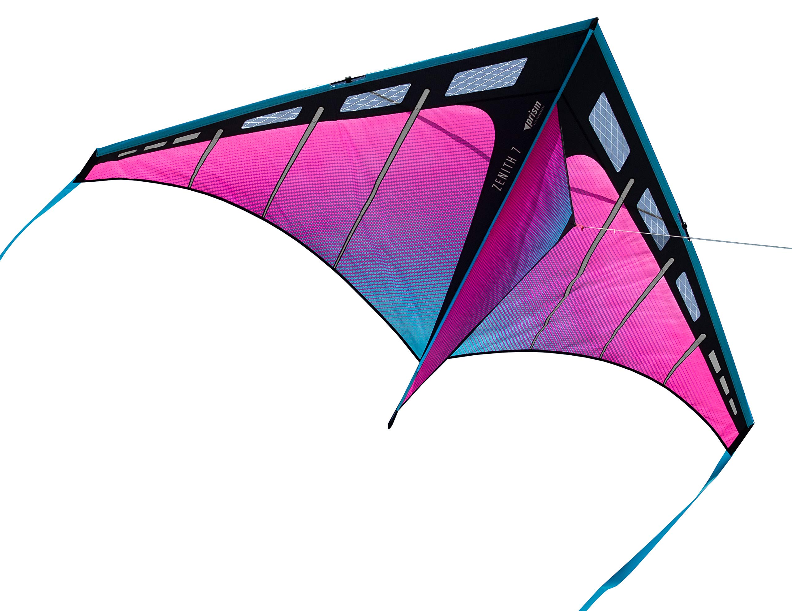 Prism Kite Technology Zenith 7 Ultraviolet Single Line Kite, Ready to Fly with line, Winder and Travel Sleeve