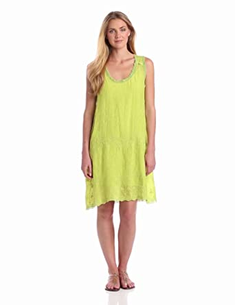 Johnny Was Women's Suni Dress, Green Moss, Small