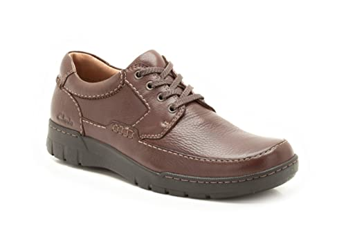 a651e03c353 Clarks Mens Casual Stand Away Leather Shoes In Brown Standard Fit Size 8