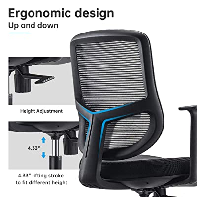 Funria Mid Back Mesh Office Chair