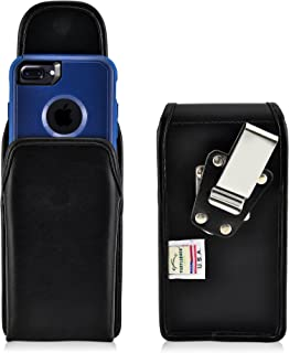 product image for Turtleback Belt Case Made for Apple iPhone 6S with Otterbox Commuter Black Vertical Holster Leather Pouch with Heavy Duty Rotating Ratcheting Belt Clip Made in USA