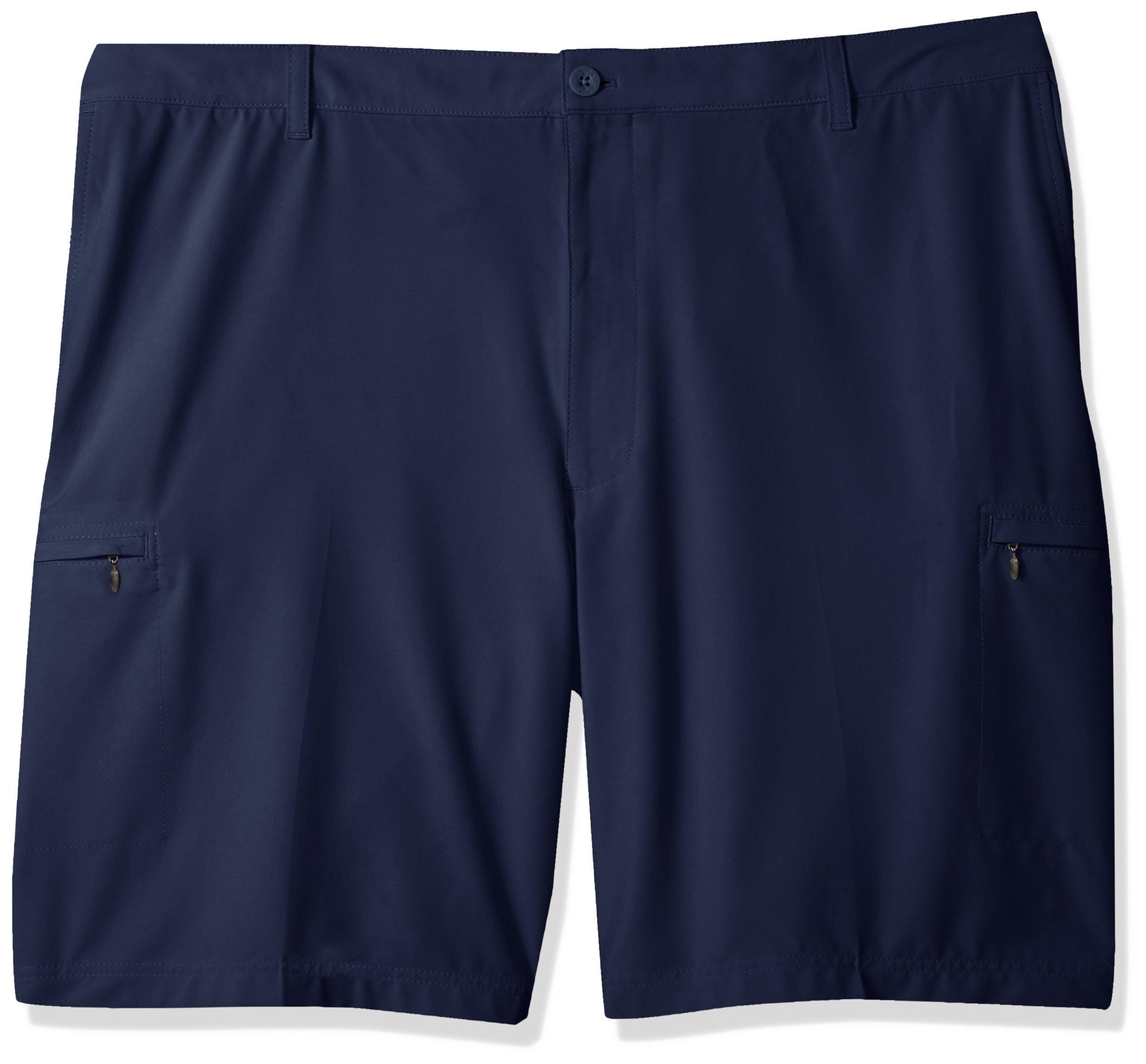 IZOD Men's Big and Tall Swing Flex Cargo Short, Peacoat/Blue, 46