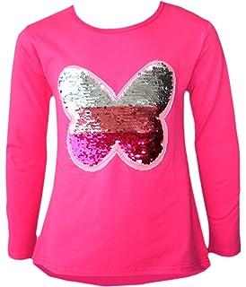 Amazon.com: Glitter Flip Sequin Camiseta de manga corta para ...