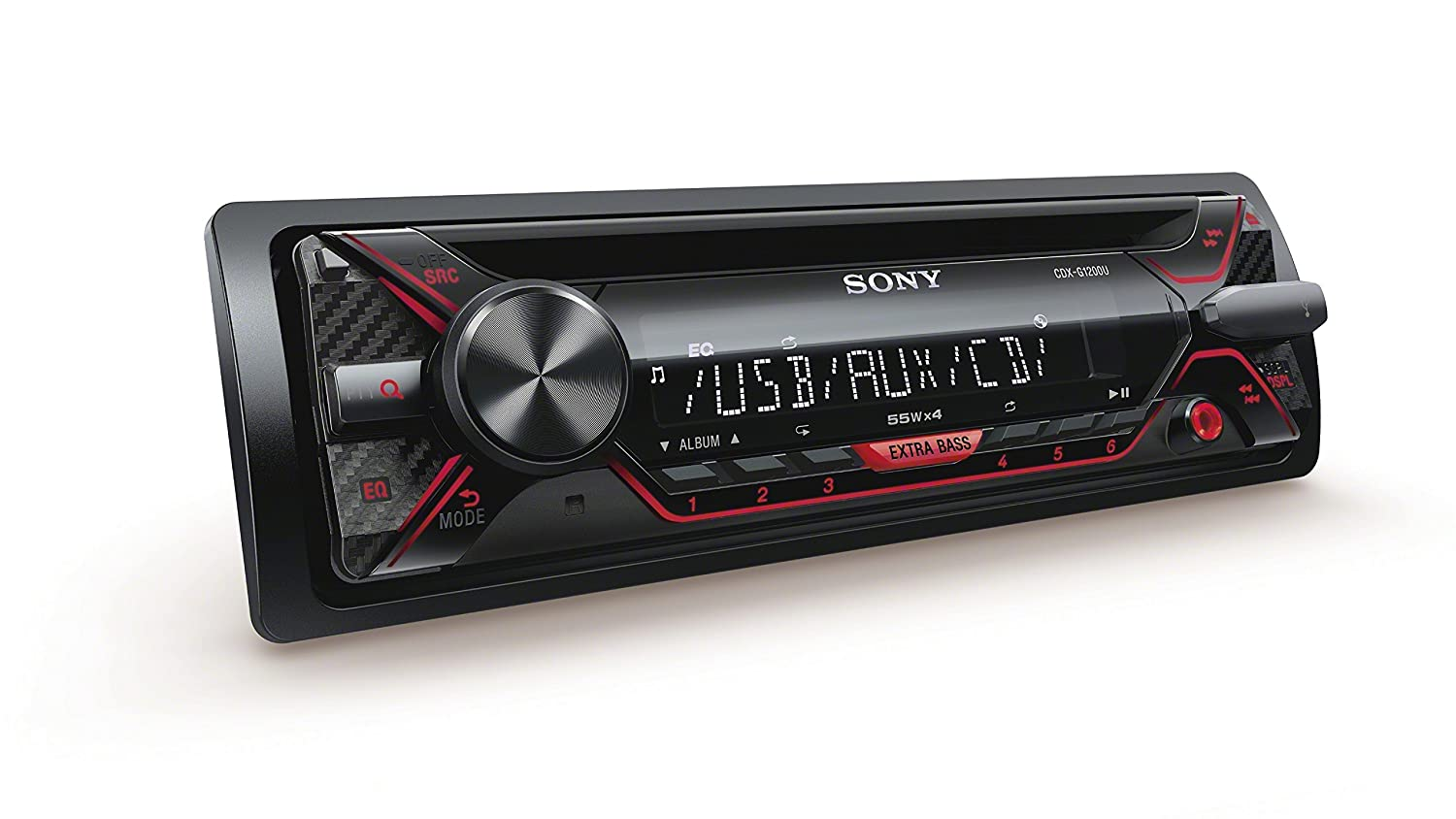 Sony CDX-G1200U 55Wx4ch max CD Receiver with USB and Aux Inputs