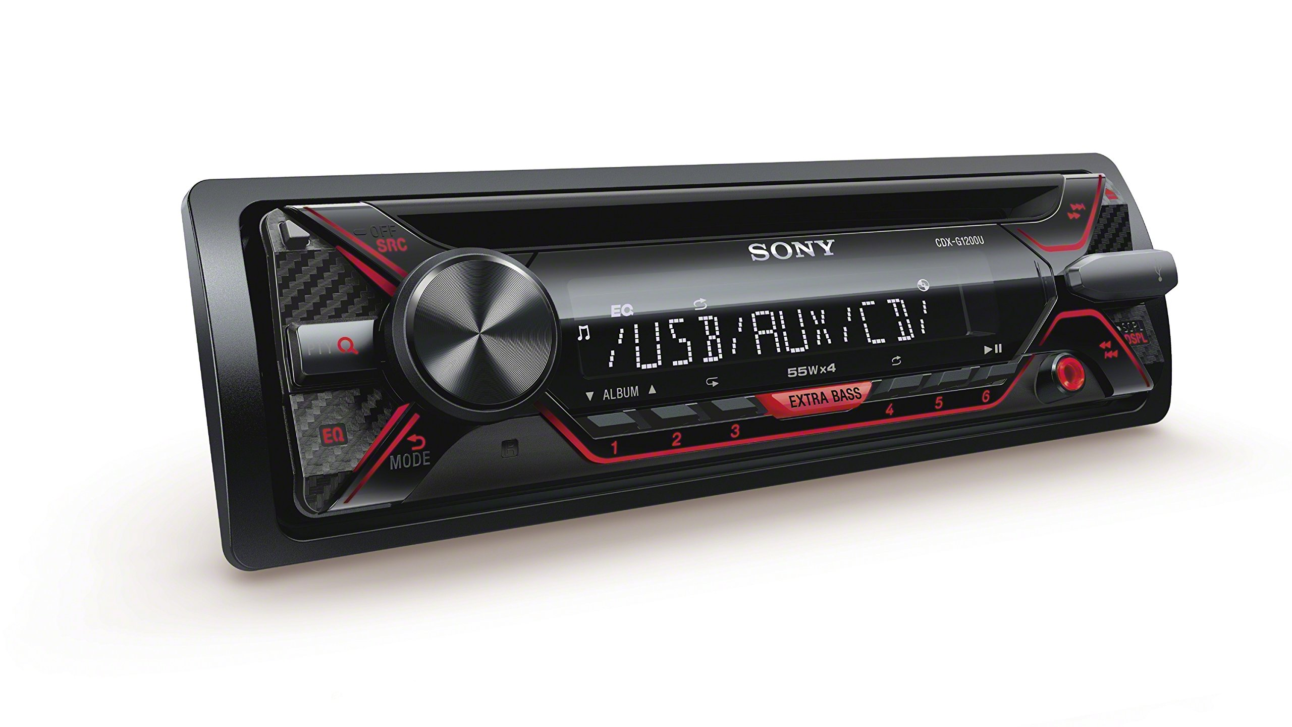 Sony CDX-G1200U 55W CD Receiver with Enhanced Smartphone Connectivity