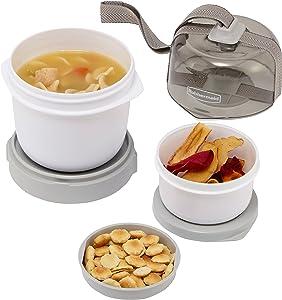 Rubbermaid Fasten + Go Soup Kit, Smoke Gray, 3-Piece Set 1946067
