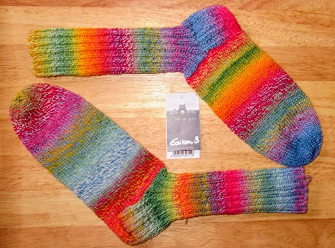 Tejido a mano/tejido de punto/calcetines/de lana / 4 capas/