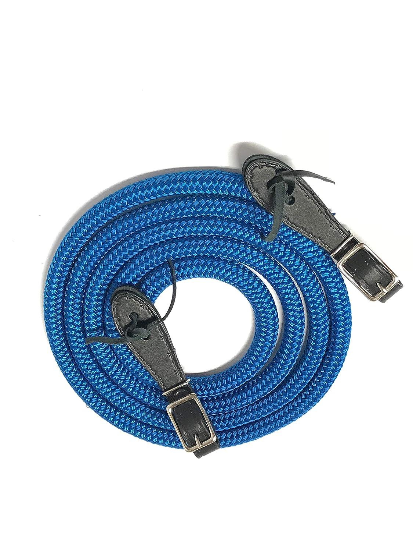 clinician rein blue mecate yacht rope mecate rein blue rein slobber straps