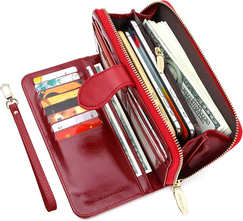 blue wallet bifold wallet  checkbook wallet Purse women leather passport organizer long leather wallet leather wallet  phone wallet