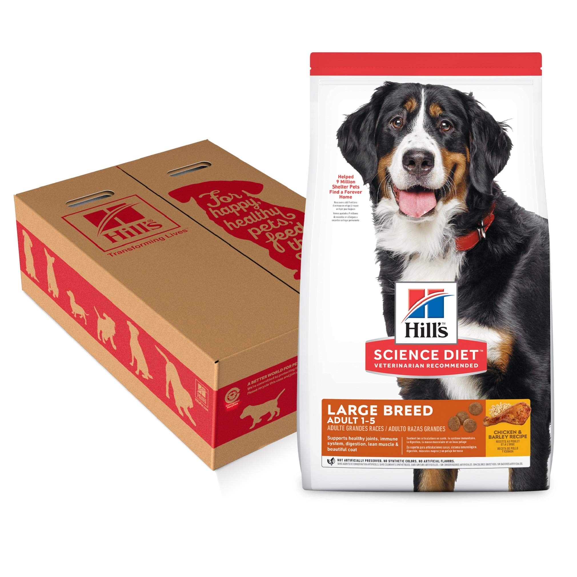Hill's Science Diet Dry Dog Food, Adult, Large Breed, Chicken & Barley Recipe, 35 LB Bag by Hill's Science Diet