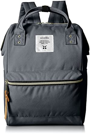 aba0ea3d5b64 Image Unavailable. Image not available for. Color  Anello Official Dark  Grey Japan Fashion Shoulder Rucksack Backpack Casual Tablet Diaper Bag  Unisex