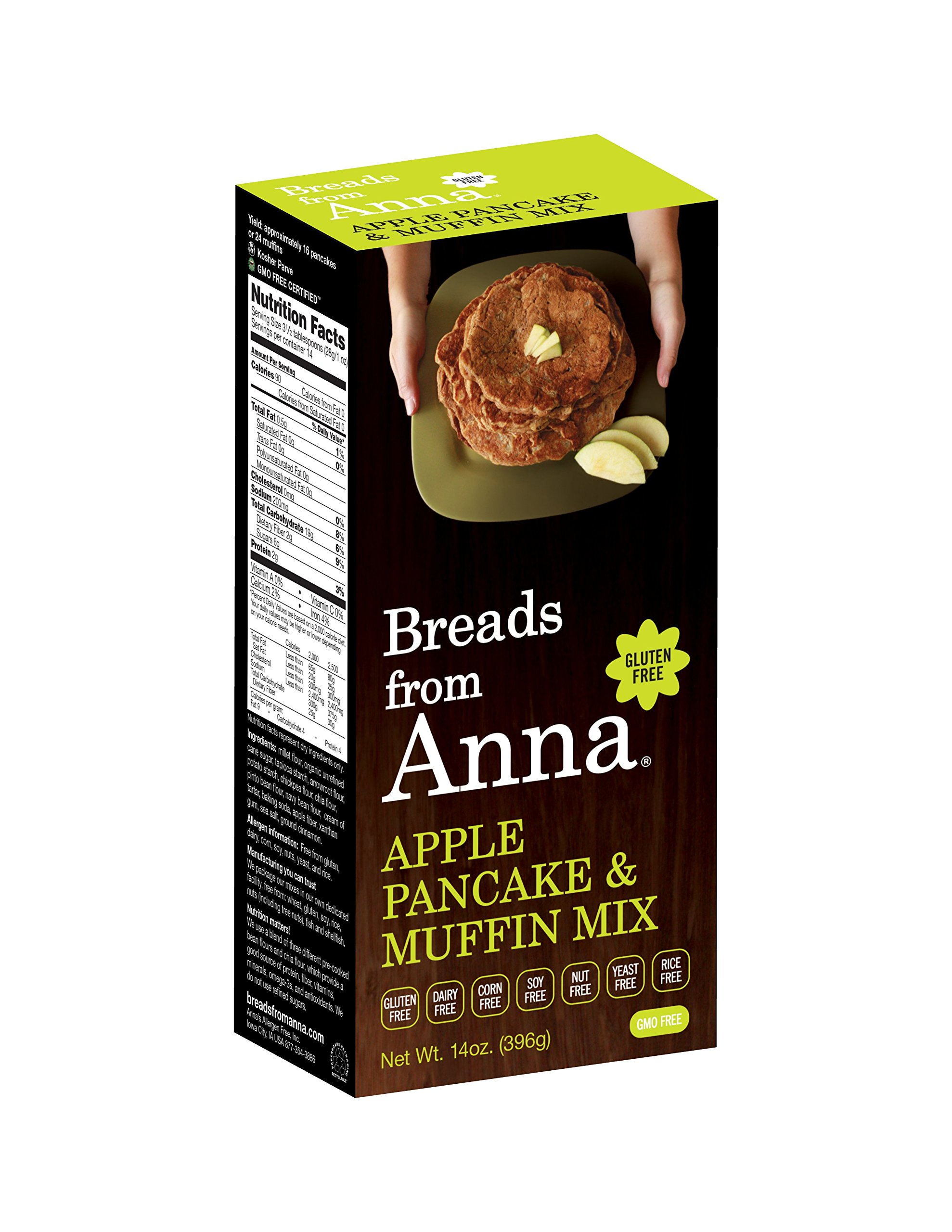 Breads from Anna Bulk 25lbs-Breads from Anna Apple Pancake and Muffin Mix Gluten-free, Dairy Free, Corn Free, Soy Free, Rice Free, Nut Free, Yeast Free