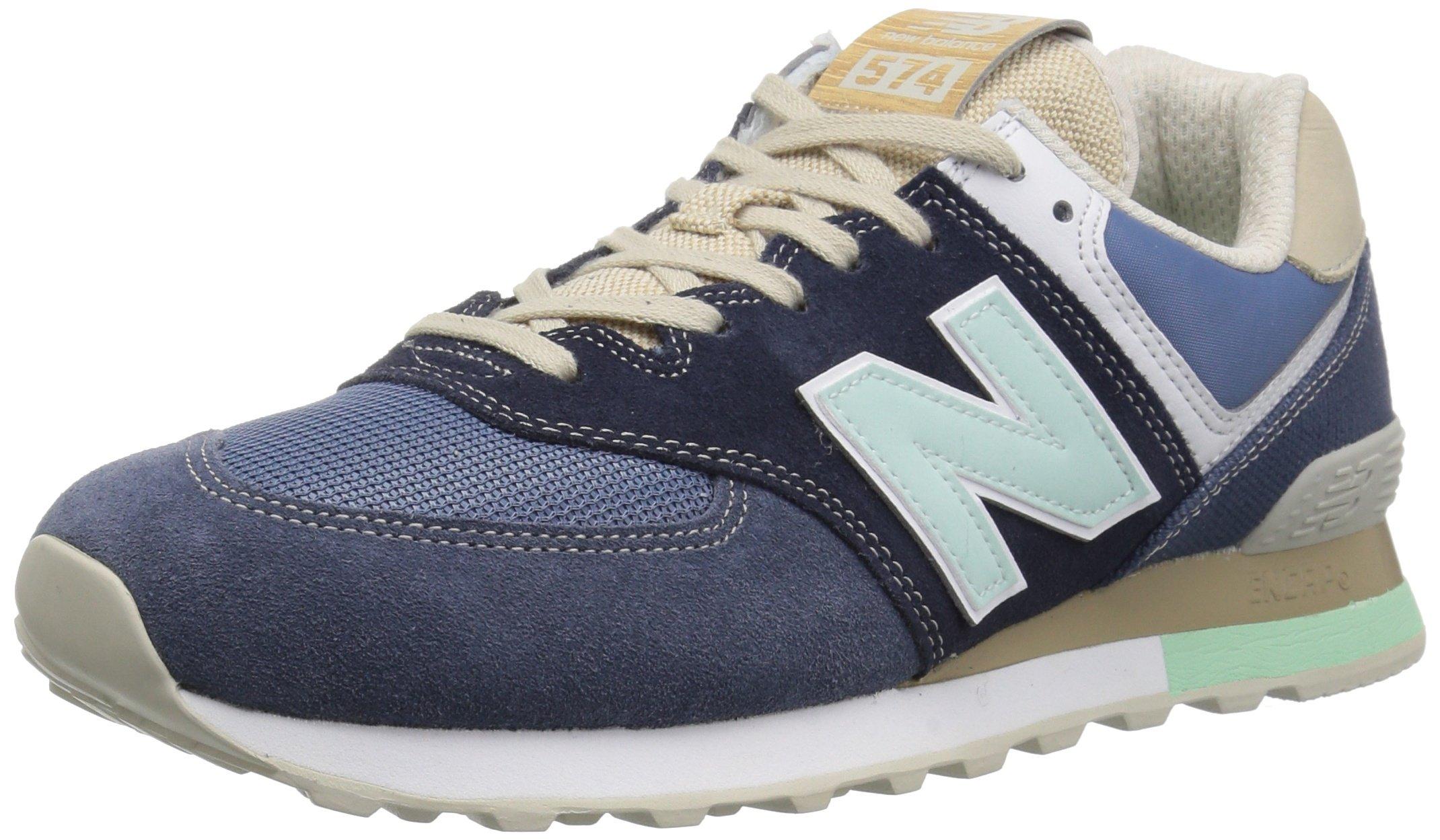 New Balance Men's 574S Sport Sneaker,navy/vintage indigo,7.5 D US