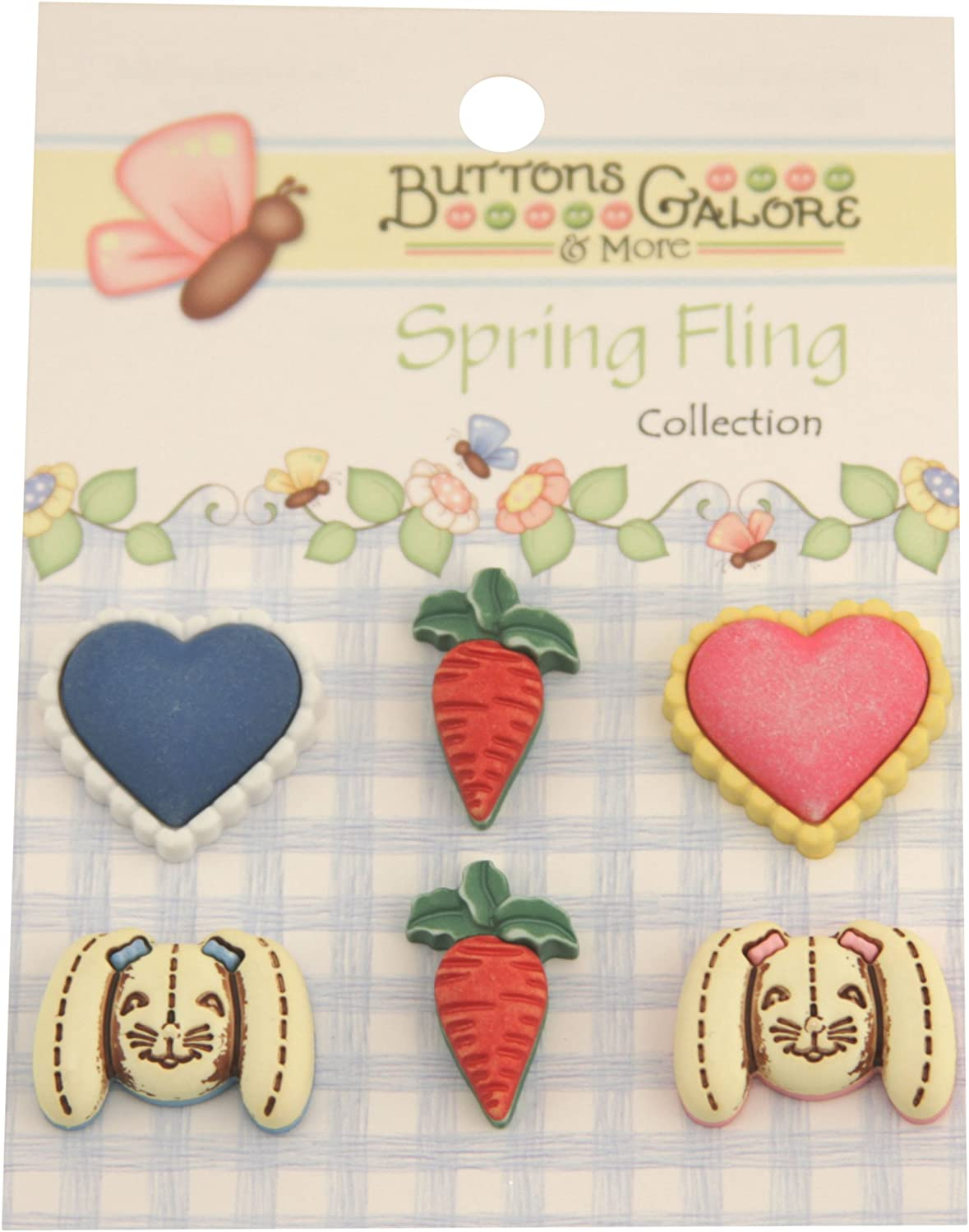 Spring Buttons-Bunny Food