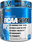 Evlution Nutrition BCAA5000 Powder 5 Grams of Premium BCAAs (Blue Raz, 30 Servings)