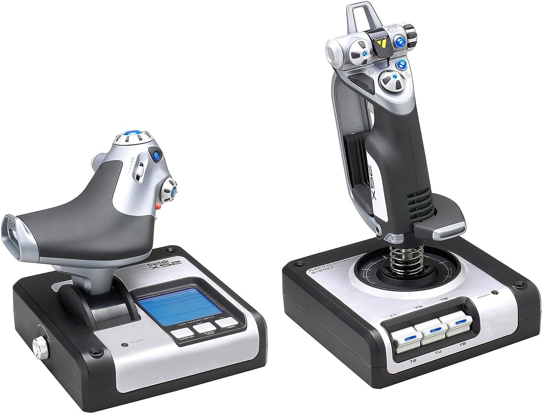 Saitek Pro Flight Joystick Throttle X52 Hotas Sistema de Control para simuladores de Vuelo en PC: Amazon.es: Informática
