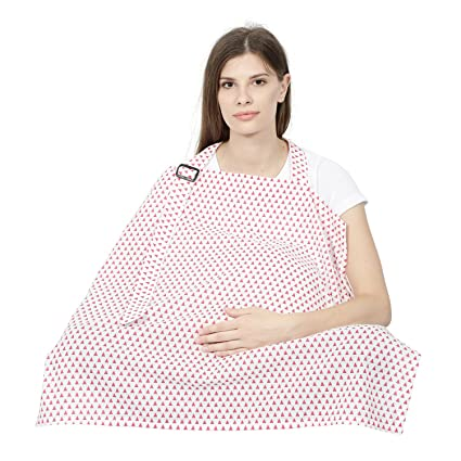 6c17f8534ad21 Buy Colorfly Printed Triangle Design Feeding & Nursing Cover-Pink Online at  Low Prices in India - Amazon.in