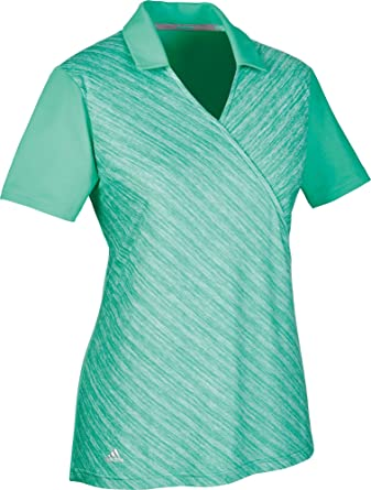 adidas Wrap Polo de Golf, Mujer, Verde, L: Amazon.es: Ropa y ...