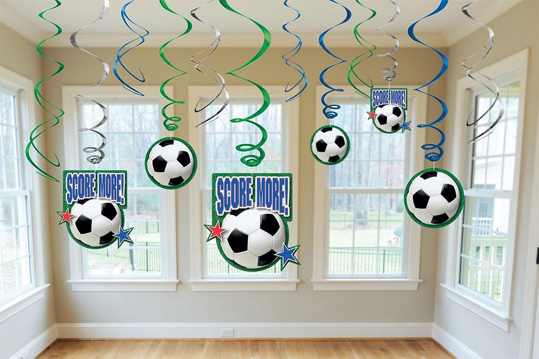 Amscan internazionali Campionato di calcio Decorazioni turbinii