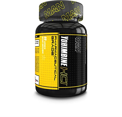 Man Sports Yohimbine. Metabolism Booster for Women and Men. Fat Burning Solution to Burn Calories Control Hunger 60 Capsules