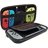 Cantome Funda para llevar con interruptor de Nintendo , Bolsa de almacenamiento protectora de viaje duro con 10 portatarjetas de juego para Nintendo Switch, Negro