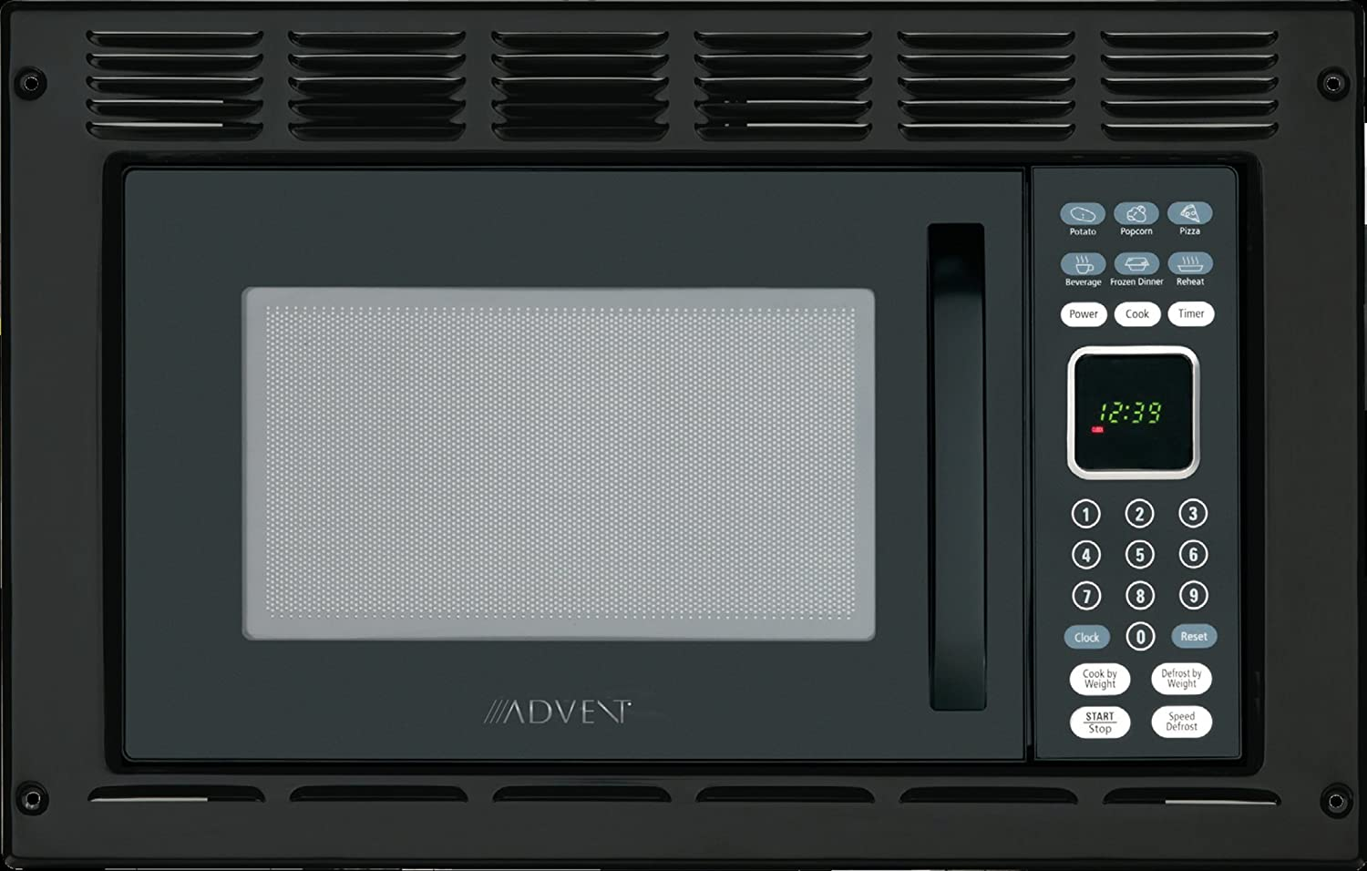 Advent MW912BWDK Black Built-in Microwave Oven with Wide Trim Kit PMWTRIM, Specially Built for RV Recreational Vehicle, Trailer, Camper, Motor Home (Renewed)